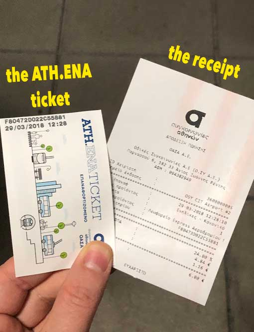athens bus ticket